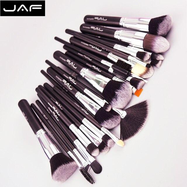 JAF 24 шт. набор кистей для макияжа Высококачественная мягкая Taklon Hair профессиональная художественная кисть для макияжа Набор инструментов ...