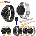 Edelstahl Uhr Band Strap Für Samsung Getriebe S3 smart watch Link armband für Samsung Galaxy Uhr 46mm mit Einstellen werkzeug Uhrenbänder Uhren -