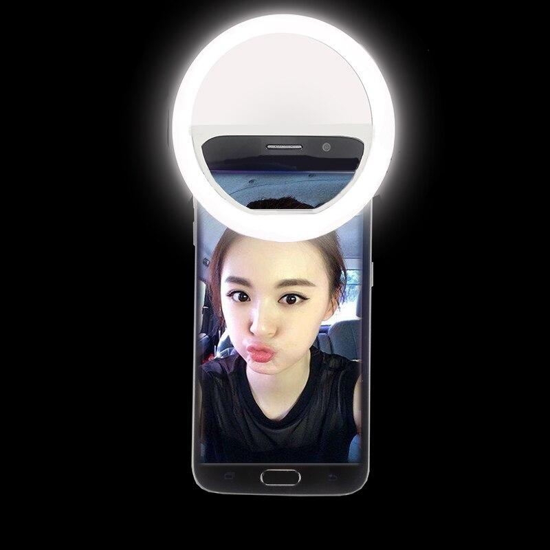 led selfie ring light 3 levels light up photography phone. Black Bedroom Furniture Sets. Home Design Ideas