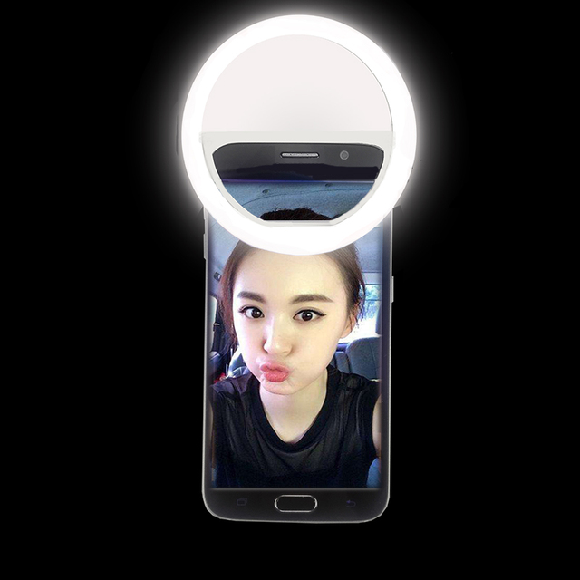 LED Selfie Ring Light 3 Levels Light Up Photography Phone Flash Ring Light For Mobile Phone Lens