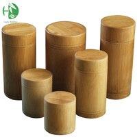 Bamboe Opbergdozen Houten Containers Handgemaakte Organizer Thee Potten Koffie Blikjes Suiker Ontvangen Voor Bulk Producten Met Deksel Vintage