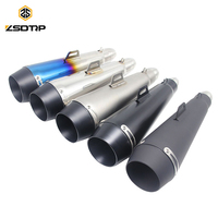 ZSDTRP Universal 51MM Motorcycle Scooter Exhaust Pipe Moto Escape GP Pot Silencer For M4 For Most Motocross Dirt Bike Cross ATV