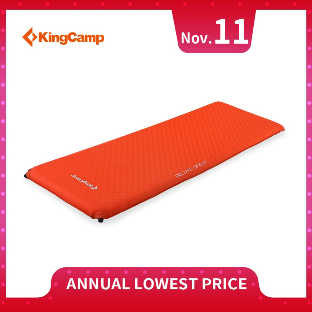 KingCamp Lightweight Colchon Inflable Durable Oxford Self-Inflating Camping Mat Deluxe Single Air Bed for Camping Backpacking