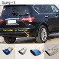 Для INFINITI QX QX56 2008-2013 Автомобильные наклейки  крышка глушителя  внешняя задняя часть трубы  наконечник выхлопной трубы  украшение  1 шт.