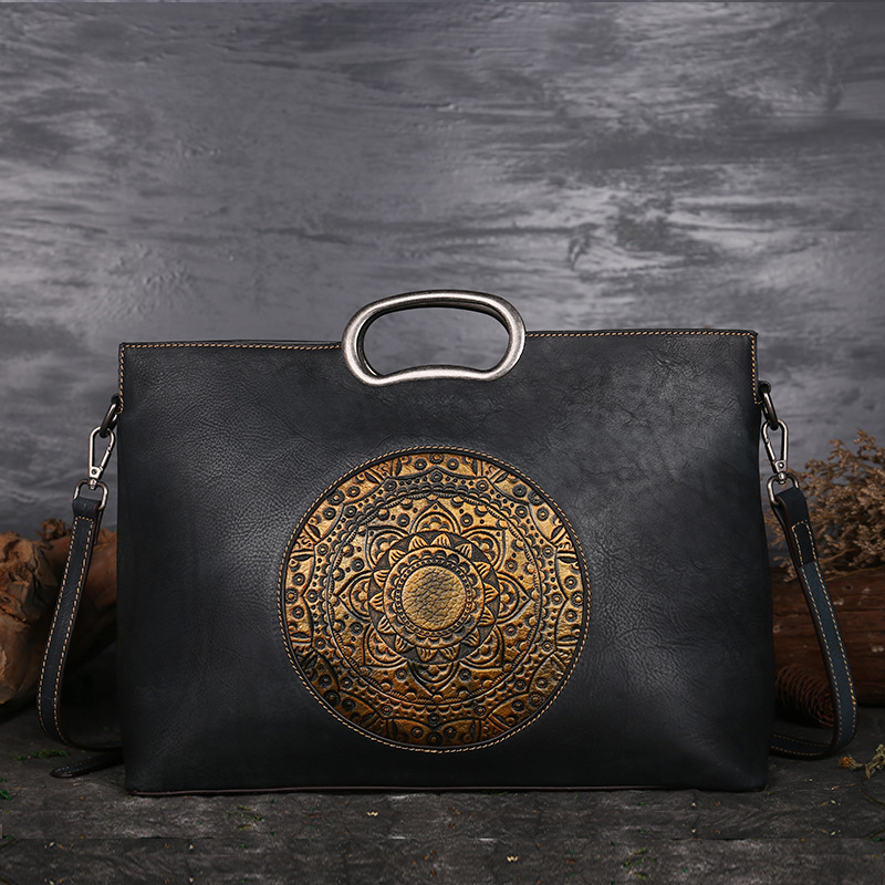 2018 New Vintage Women Genuine Leather Handbags Ladies Retro Elegant Shoulder Messenger Bag Cow Leather Handmade Womans Bags vintage luxury women genuine leather handbags ladies retro elegant shoulder messenger bag cow leather handmade womans bags