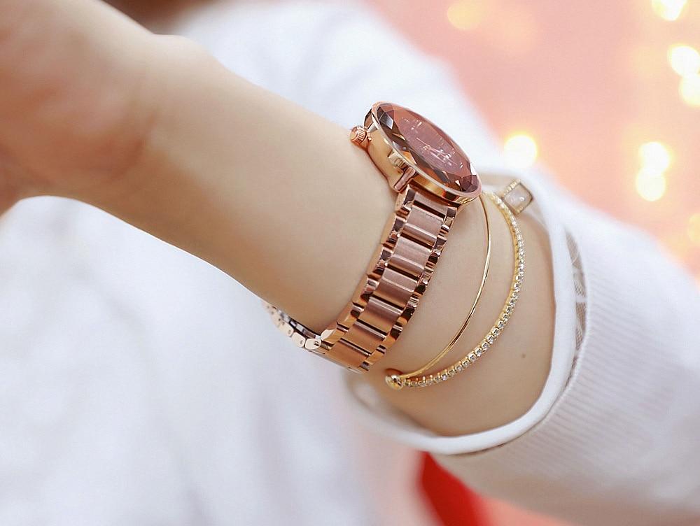 Hot Sales Luxury ladies Watch Women New Diamond Dress Watches Fashion Steel Woman Watch Elegant Female Clock montre femme in Women 39 s Watches from Watches