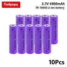 18650 Battery Rechargeable 37V 4900mAh Lithium Li-ion Power batteries bateria For Laser Pen LED Flashlight