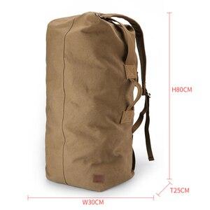 Image 3 - Muzee Huge Travel Bag Large Capacity Men backpack  Canvas Weekend Bags Multifunctional Travel Bags