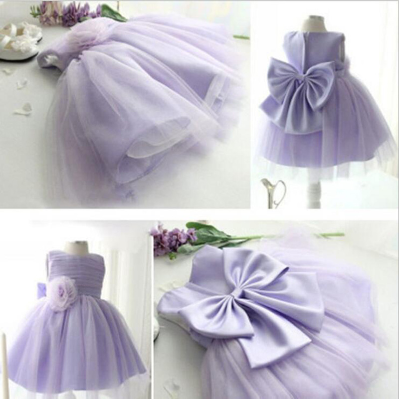 Adorable Toddler Baby Girls Party Dress High Quality Kids Lavender Mesh Vest Tutu Dress 12m-10y Children Clothes Summer