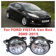 For FORD FIESTA Van Box  2009-2015 Fog Lamps LED Car Styling 10W Yellow White 2016 new lights