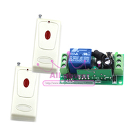 DC12V 1CH RF Wireless Remote Control Switch System 1Receiver 2Transmitter M4 T4 L4 Adusted Learning Code