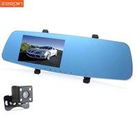 New 5 Inch Dual Lens Car DVR Camera Mirror With Rear View Camera Video Recorder DVR