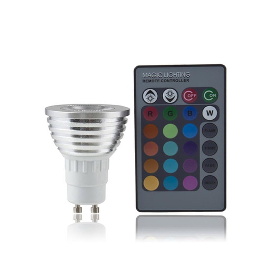 1 set GU10 RGB LED Bulb Color Change Lamp Light Light with Remote Control 100-240V Party Lighting Worldwide