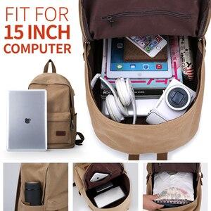 Image 4 - Muzee قماش الرجال على ظهره حقيبة ظهر بسعة كبيرة المدرسة حقائب للمراهقين كمبيوتر محمول USB شحن أكياس الذكور Mochila