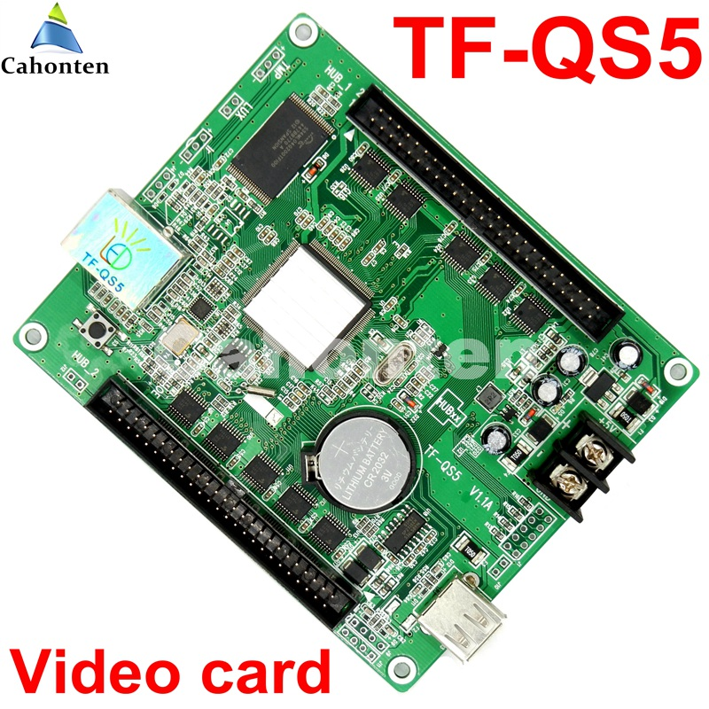 Free ship TF-QS5 USB and network full color asynchronous display control card 320*128 pixel led controller for rgb P10,p4,p5,p3 diy p3 led display screen smd indoor full color module 10pcs 1 pcs control card c10 cl power supply 2pcs p3 rgb led sign