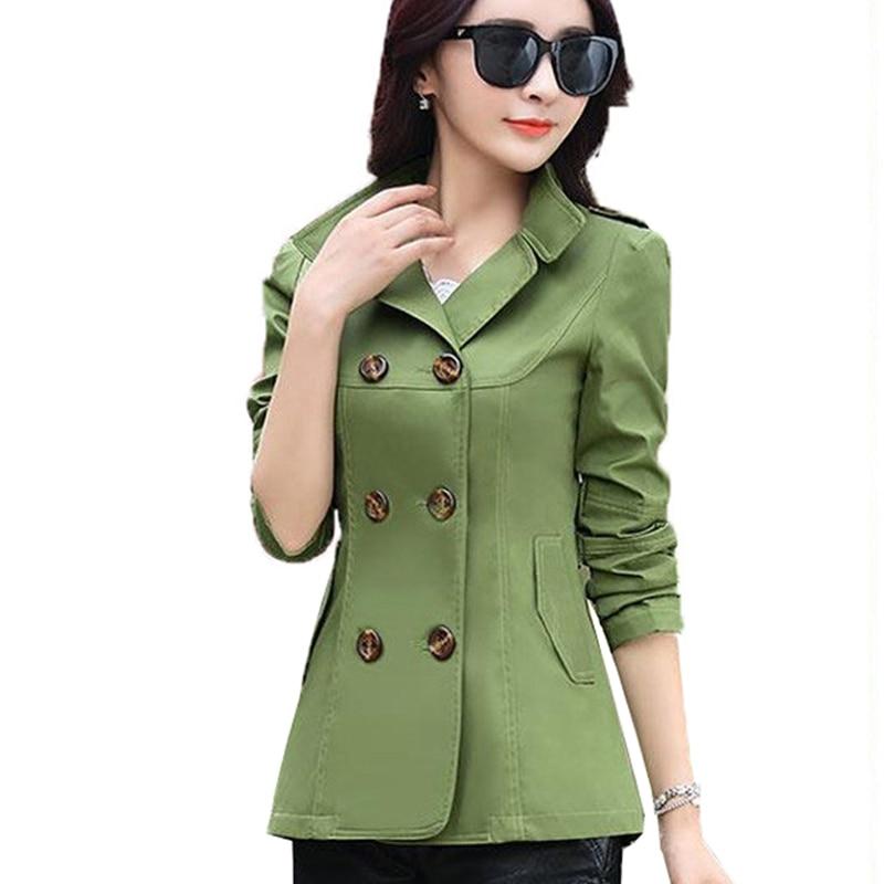 Women Jackets Coats 2018 New Autumn Slim Woman Casual Plus Size Double Breasted Blasers Chaquetas Mujer Casaco Jaqueta Feminina