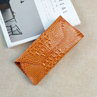 AOEO Alligator Luxury Ladies Leather Wallets Crocodile For Credit Card Holder Money Bag 5 5 Inch