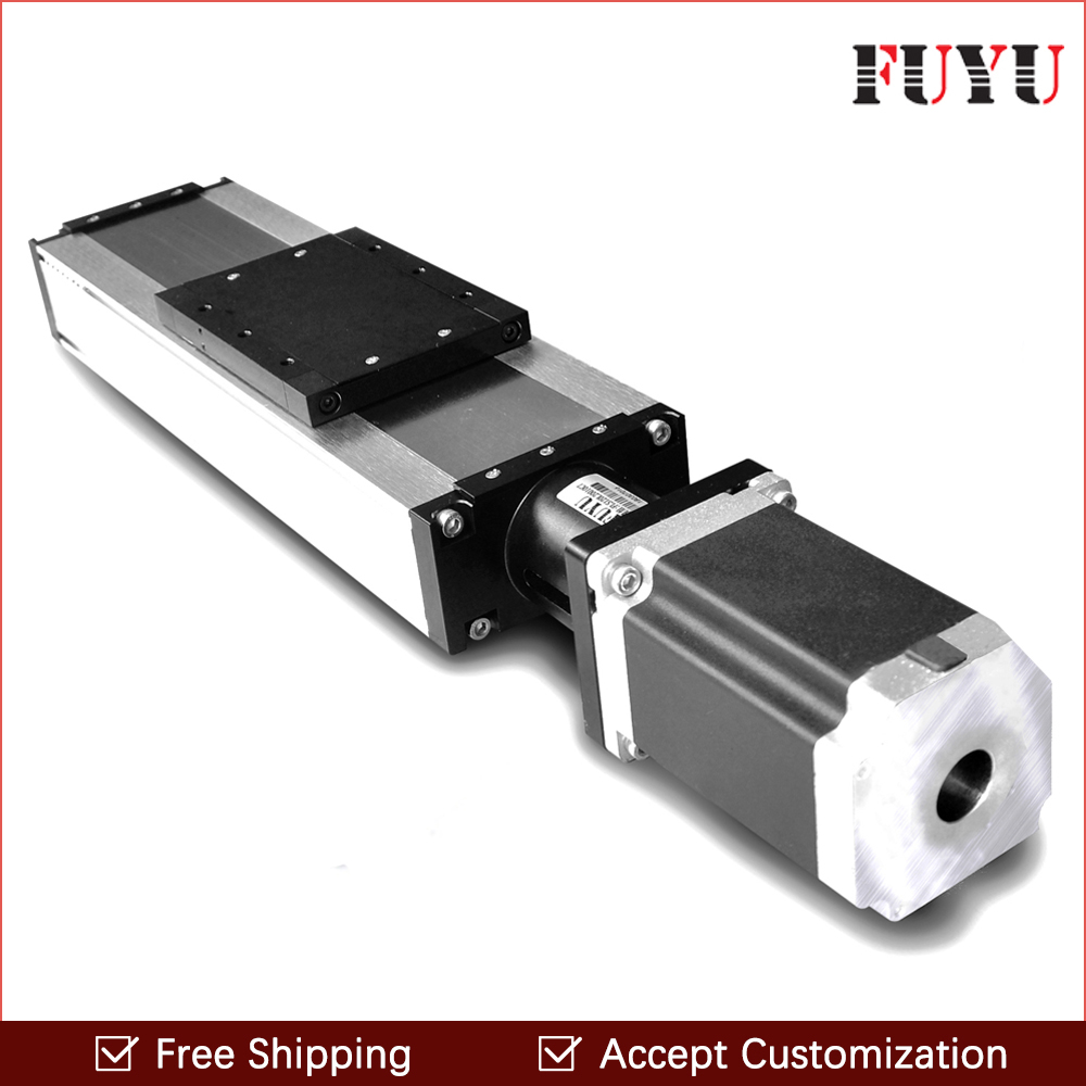 Free shipping 100mm-1500mm stroke ball screw linear module guide rail slide actuator cnc stage travel guide for motion system belt driven long travel linear slide linear motion ball slide unit guide linear actuator for massage chair