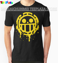 2017 New Arrival Rushed Fashion O-neck Teeplaza Movie T Shirts Graphic Heart Pirates Trafalgar Law One Piece Short-sleeve Mens