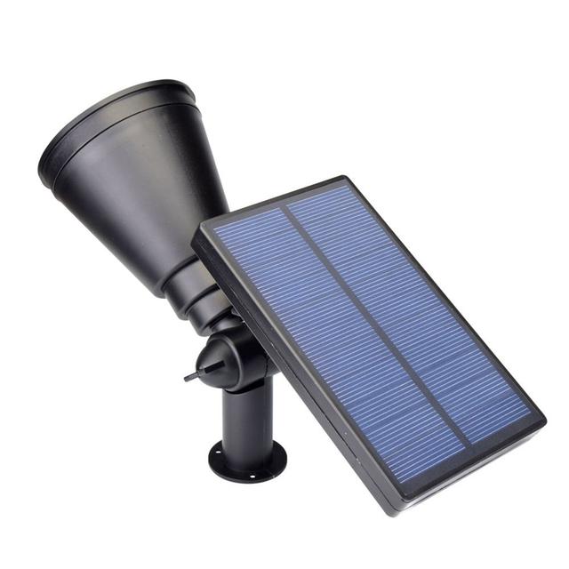 4PCS Solar Powered LED garden lamp Security Spot Light warm white Waterproof Outdoor home Decoratation spotlight free shipping