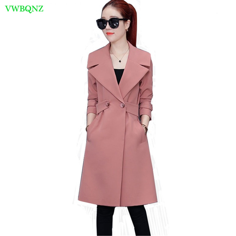 2018 Fashion Spring New Windbreaker Coats Women's clothing Elegant slim Temperament Lady Overcoat Casual Female   Trench   Coats