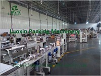 LX PACK Brand Lowest Factory Price Automatic Continuous Plastic Cup Sealing Machine Automatic Potato Chips Snack