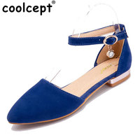 CooLcept с ремешками на лодыжках женские сандалии на плоской подошве летние ажурные с металлическим носком Брендовая женская удобная обувь на ...