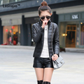 New Fashion Women Coat Solid Stand Collar Zippers Pockets Long Sleeve Slim Women Down Parkas Autumn Keep Warm