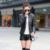 Novas Mulheres Da Moda Casaco de Gola Sólida Bolsos Zíperes Manga Longa Magro Das Mulheres Para Baixo Parkas Outono Manter Aquecido
