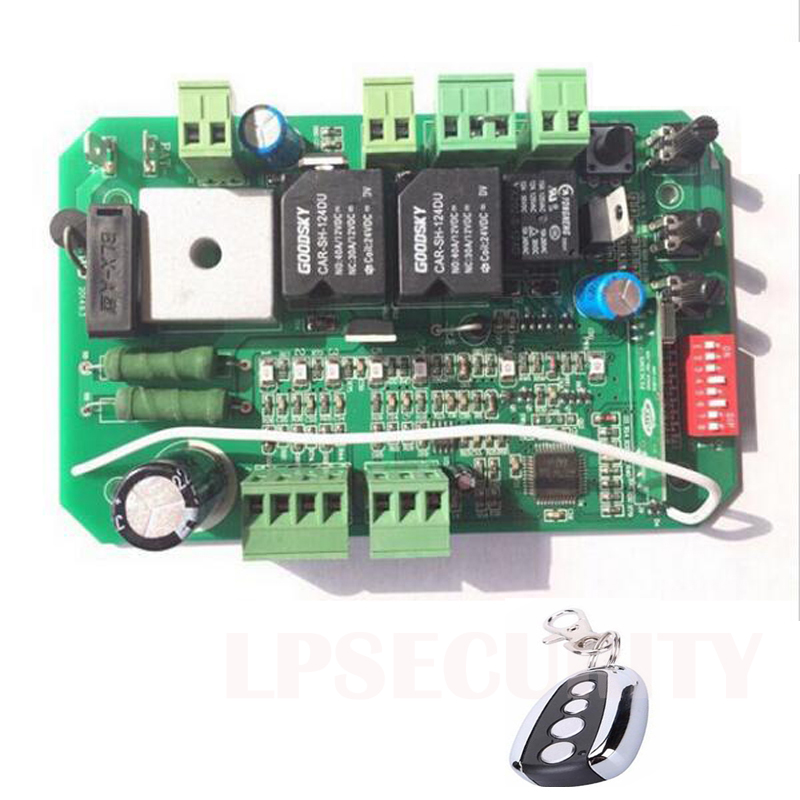 LPSECURITY Gate Opener Control Unit Motherboard PCB Motor Controller Circuit Board Card For 24VDC Sliding Gate Motor Opener
