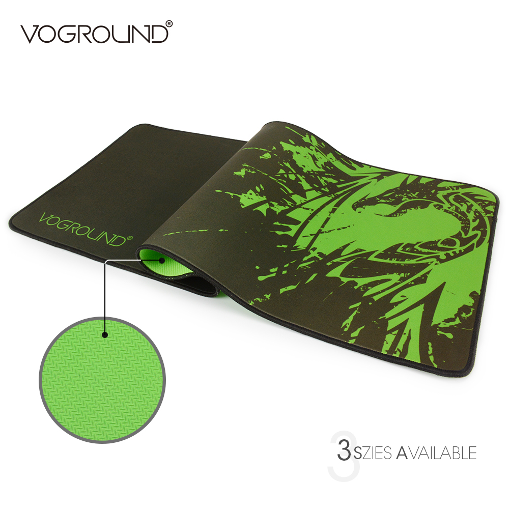 VOGROUND Green Dragon Speed Large Gaming Mouse Pad For LOL Laptop Locking Edge Natural Rubber Mousepad Mat For CS Dota metal adjustable arm rest wrist support extended mousepad rotation ergonomic mouse pad shoulder protect for office game