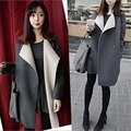 2016 Autumn Winter Women Basic Coats The New Kpop  Woolen Coat  Plus Size Coat And Long Sections S-2XL LUCKY q0017