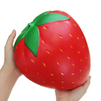 Huge Strawberry Fruit Slow Rising Soft Toy Gift Collection With Packaging Wipes Antistress Ball Decompression 25*20cm