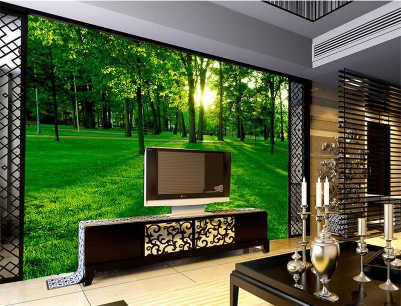 3d photo wallpaper custom mural room non-woven Green forest sun landscape painting picture 3d wall murals wallpaper for walls 3d 3d room custom wallpaper photo non woven mural picture 3d fantasy forest birds decoration painting wallpaper for walls 3 d