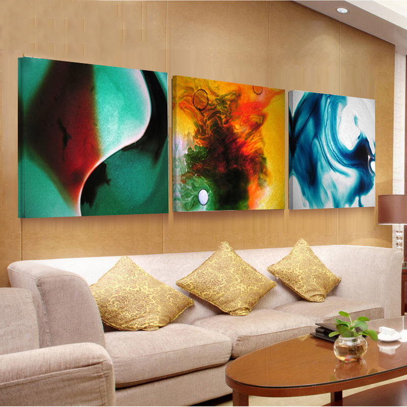 3 panel wall art painting on cuadros picture oil paintings for Best brand of paint for kitchen cabinets with abstract panel wall art