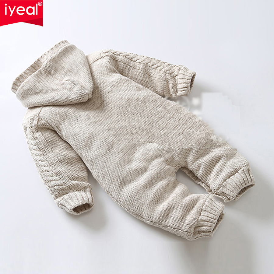 be49bf02c521 IYEAL Thick Warm Infant Baby Rompers Winter Clothes Newborn Baby Boy ...