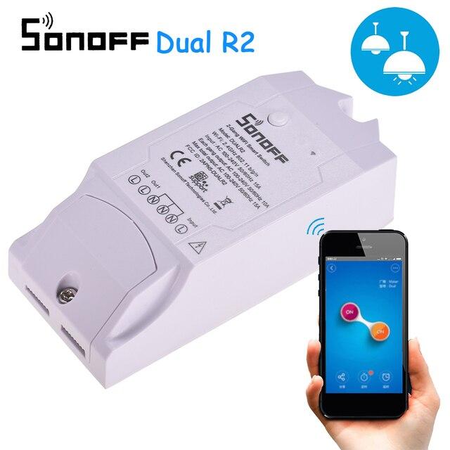 Sonoff Dual R2 2CH inteligentny zegarek wi fi domowy zdalny sterownik bezprzewodowy przełącznik uniwersalny moduł przełącznik czasowy inteligentny sterownik domowy