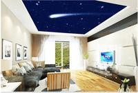 Custom Photo Wallpaper Large 3D Stereo Romantic Meteor Sky Ceiling 3d Murals Wallpaper For Living Room