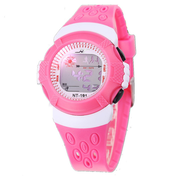 Luxury Brand Kids Watch Children Led Digital Display Sport Wristwatch Boys Girls