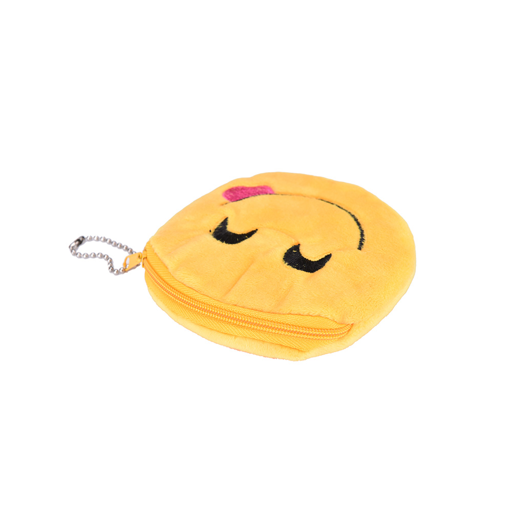 Coin Purses & Holders 1pcs Cute Soft Style Novelty Emoji Zipper Plush Coin Purse Children Bag Wallets Mini Change Pouch Bolsa Coin Purses