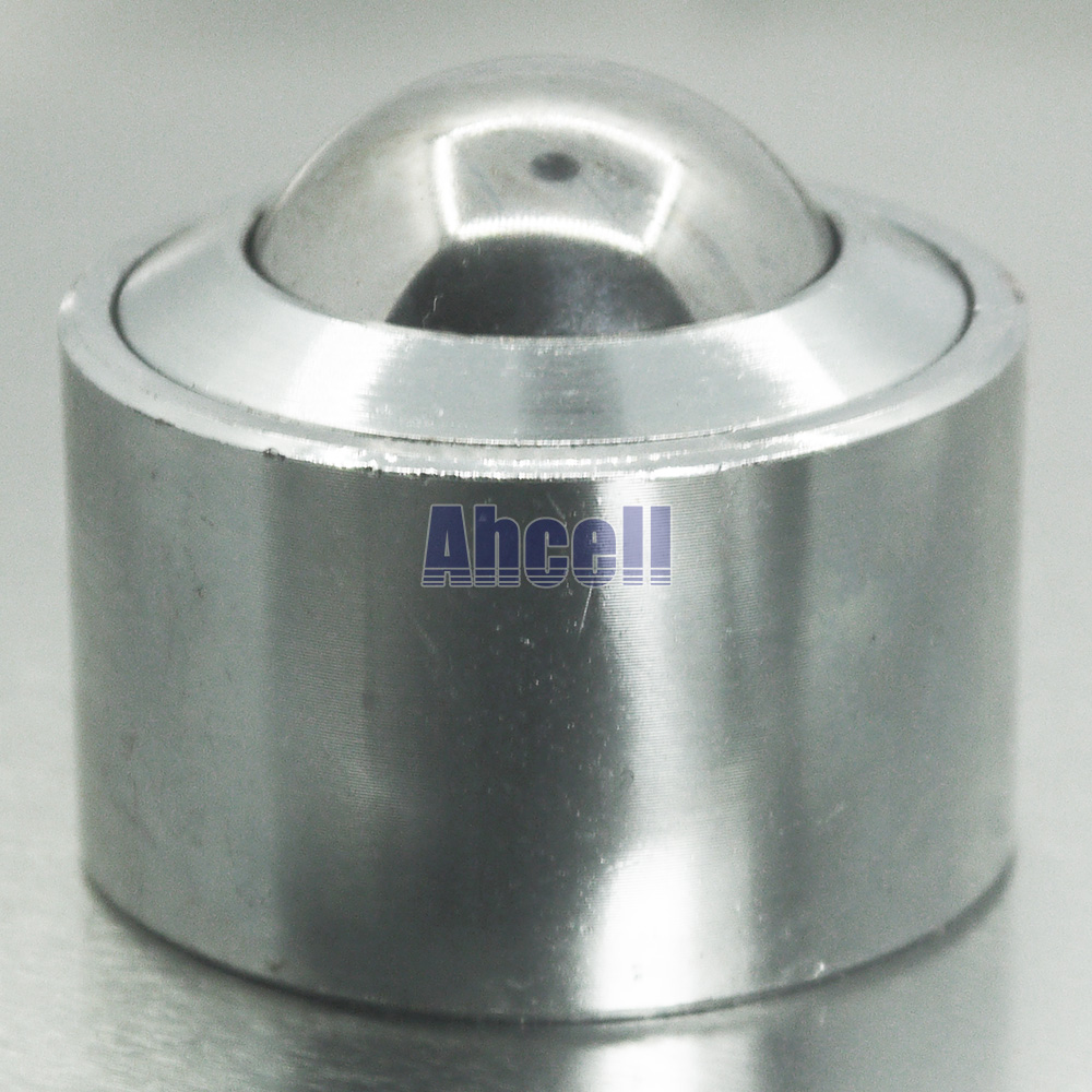 Ahcell 30mm KSM-30 Steel Ball Universal Bearings Bovine wheel bovine flat round Ball Metal Transfer Bearing Unit Conveyor Roller 4pcs m12 thread bolt rod fix mount ball caster machined solid steel robot ball roller conveyor wheel ksm 25fl ball transfer unit