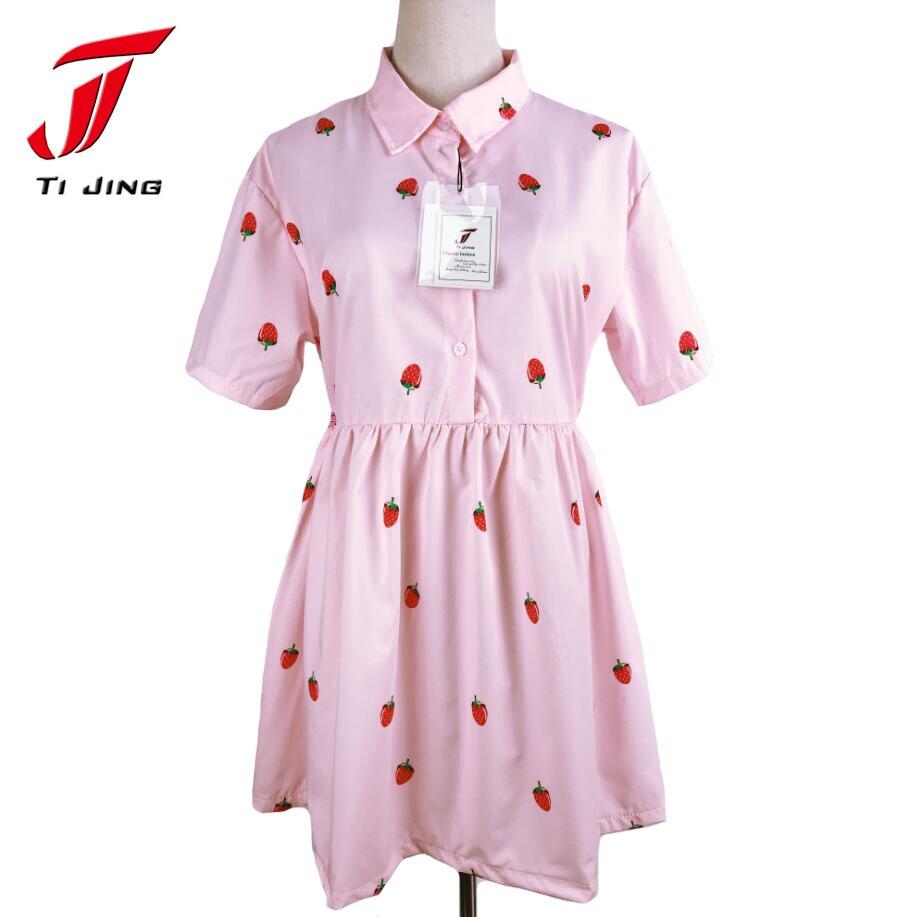 Vestido de las mujeres de kawaii lolita vestido corto para el verano ...