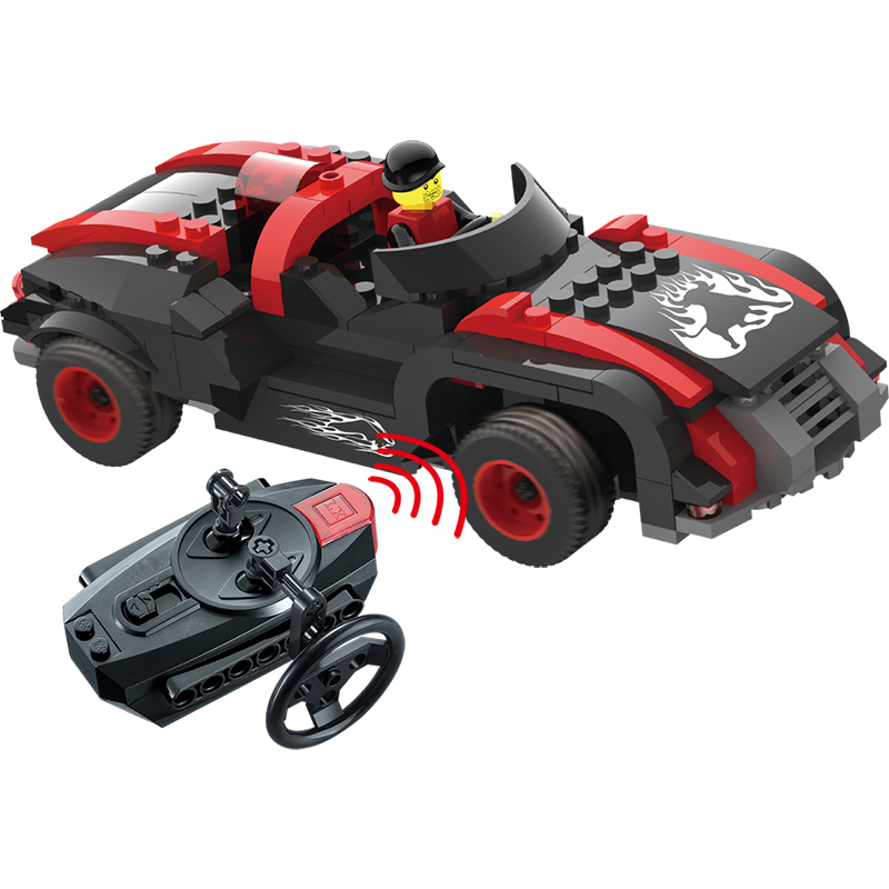 New Hero Mount Infrared Remote Control Car Building Blocks Compatible LegoINGLYs Educational Toys For Children Gift Bricks 2 in 1 rc car compatible legoinglys radio technical vehicle green suv control blocks assembled blocks children toys gift