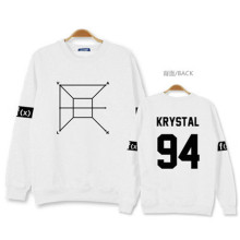 2016 Hot The New F (x) k-pop Clothes College Wind Unisex Black and white Cotton Printing Jacket Tee hedging Sweatshirts