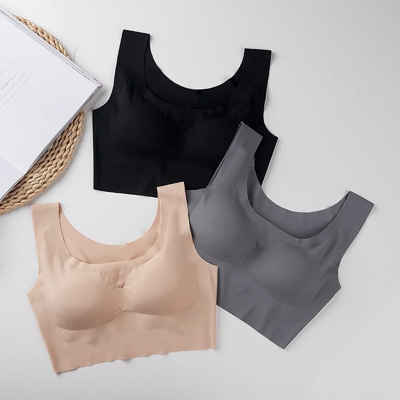 Sexy Women Active Bras Push Up Gather Bralette Seamless Bra Wire Free Soutien Gorge Femme Comfort Underwear Vest Brassiere