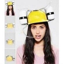 New unique creative gadgets lazy hat straw helmet Coke beer party cool unique toys