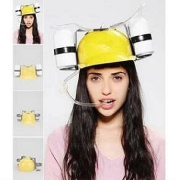 New unique creative gadgets lazy hat straw helmet Coke beer party cool unique toys