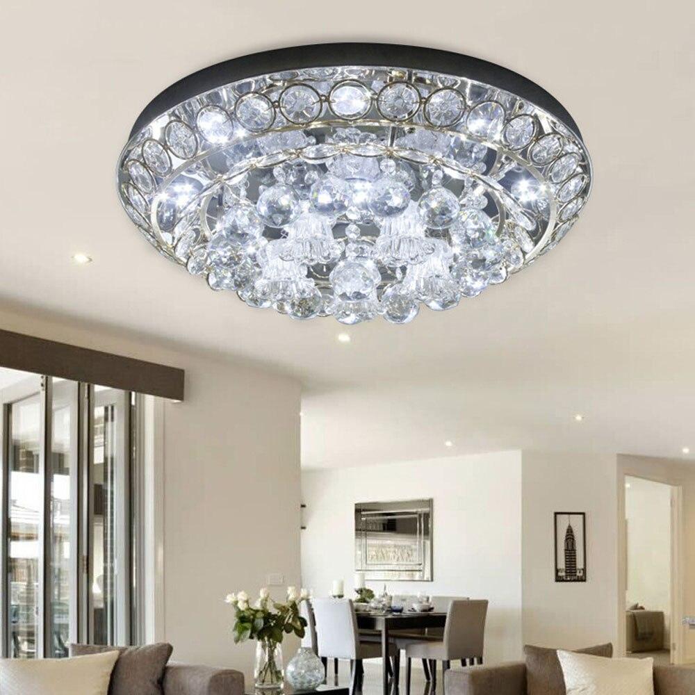 Moderne kristall deckenleuchte 110 v 220 v goldenen runden nicht dimmbar hause beleuchtung wohnzimmer schlafzimmer