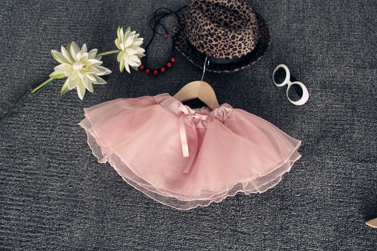 2016 New Arrival Kids Pleated Skirt Half-length Organza Veil Sweet Girl Tutu Skirt On Sale (6)