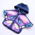2016 Casacos E Jaquetas de Meninas Borboleta Do Bebê Capa Com Capuz Para O Bebé Primavera Outono Outwear Nova Moda Crianças Roupas
